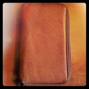 Handbags - Leather two pocket wallet